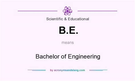 what does b e definition of b e b e stands for bachelor of engineering by