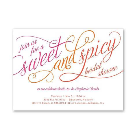 Bridal Shower Invitations by Sweet And Spicy Bridal Shower Invitation