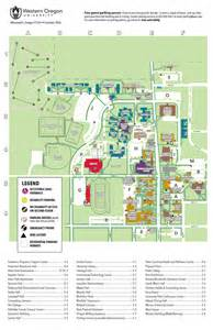 western oregon cus map parking resources