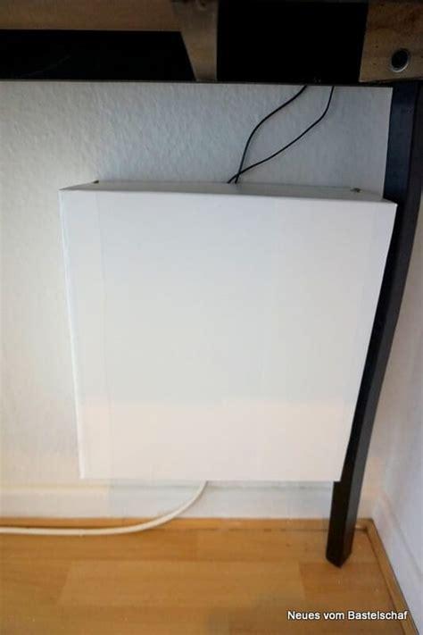 router verstecken schuhkarton upcycling weg mit dem kabelsalat handmade