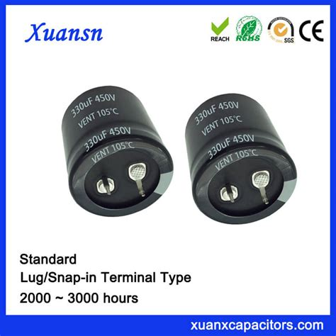 high reliability aluminum electrolytic capacitors high reliability 330uf 450v capacitor electrolytic snap in
