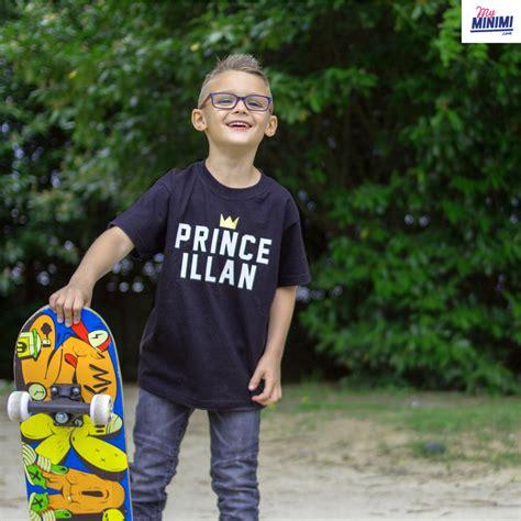 my minimi brand shirt personnalis 233 prince pour enfant et parents noir et blanc