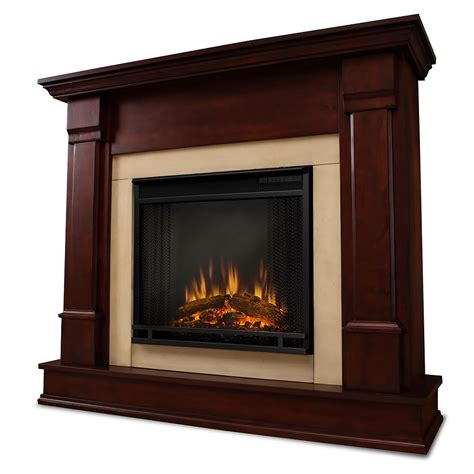 silverton electric fireplace mantel package in dark