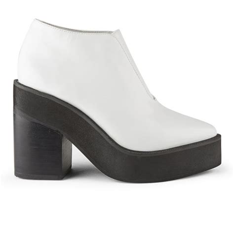 Kickers Boots Sol White sol sana s wyatt leather platform ankle boots