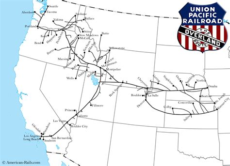 union pacific railroad map the union pacific railroad