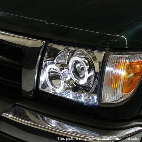2000 Toyota Tacoma Headlights 1997 00 Toyota Tacoma Black Led Halo Projector Headlights