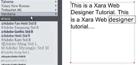 xara web design tutorial how to use the text tool in xara web designer 171 software tips
