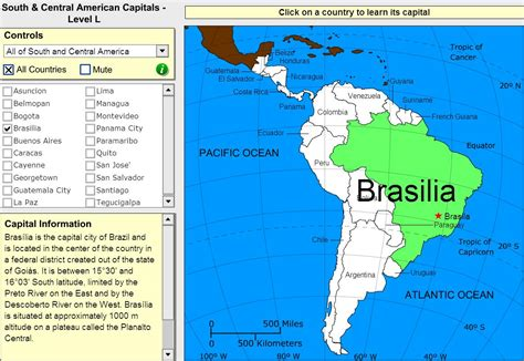 interactive map of america with capitals interactive map of south and central america capitals of