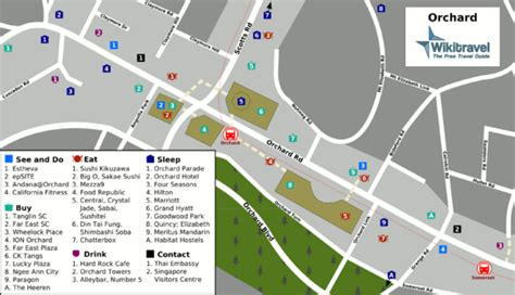 location map  orchard road singapore  singapore