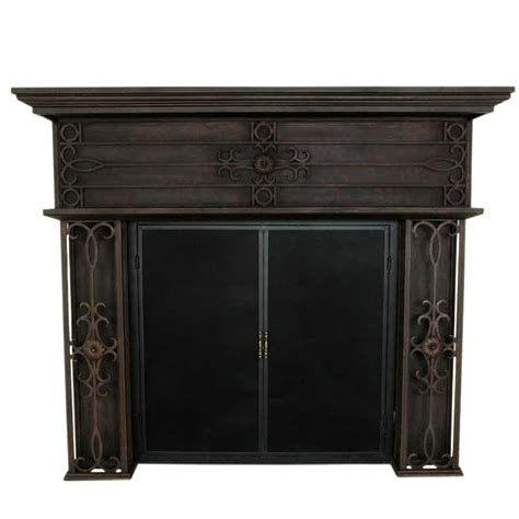 Iron Fireplace Mantel by Florence Wrought Iron Fireplace Mantel