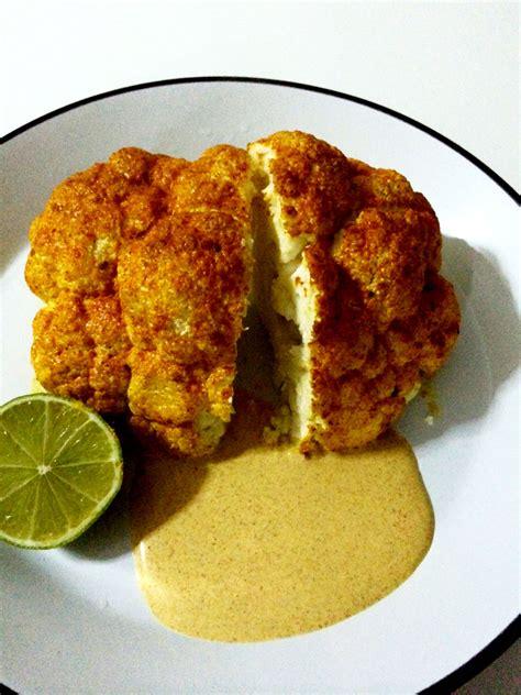 como cocinar coliflor al horno coliflor entera al horno con especias adaptaciones