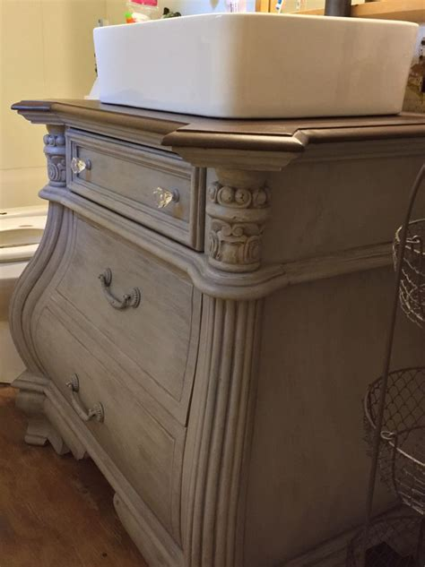 diy nightstand to bathroom vanity i used waverly chalk
