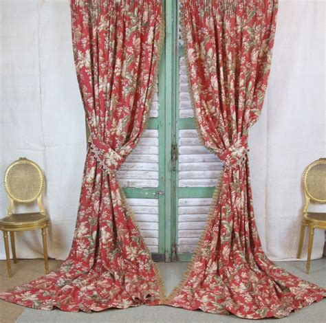 vintage curtain b360 s gorgeous pair antique french chateau curtains