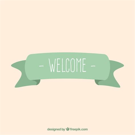 welcome banner template welcome ribbon vector free