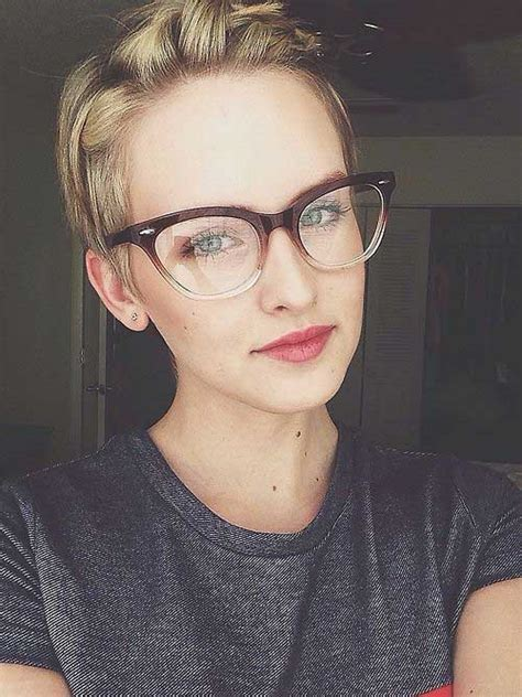 hairstyles to make glasses look good 20 best pixie cut 2014 2015 short hairstyles 2017