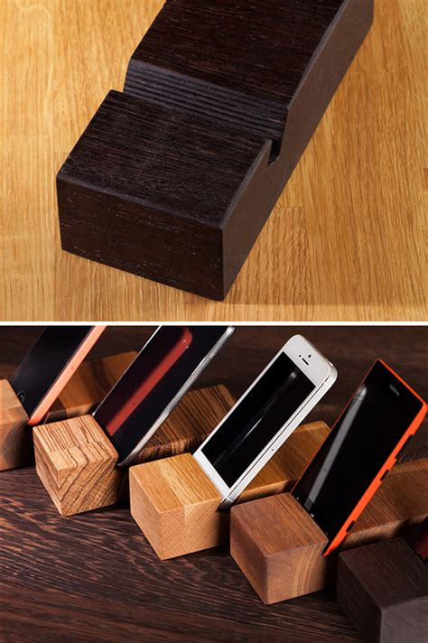 Solid Wood iPhone Stands / Mobile Phone Holders   Worktop