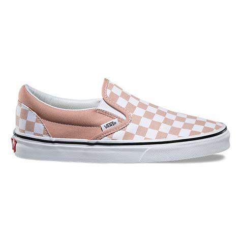 light blue and pink vans checkerboard slip on shop at vans