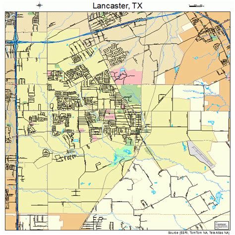 texas to ohio map lancaster texas map 4841212
