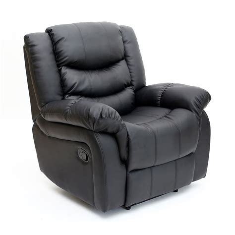 Seattle Leather Sofa Seattle Leather Recliner Armchair Sofa Home Lounge Chair Reclining Gaming Ebay