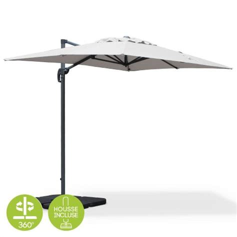 parasol d 233 233 rectangulaire biscarosse 2x3m gris clair