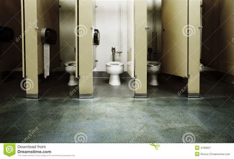 one clean bathroom stall stock image image of walls