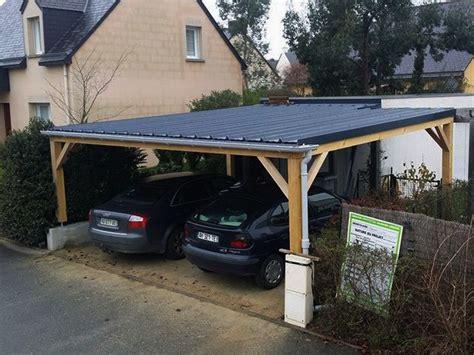 Garage Voiture Exterieur by Carport Bois Bordeaux Bassin D Arcachon Abris Voiture