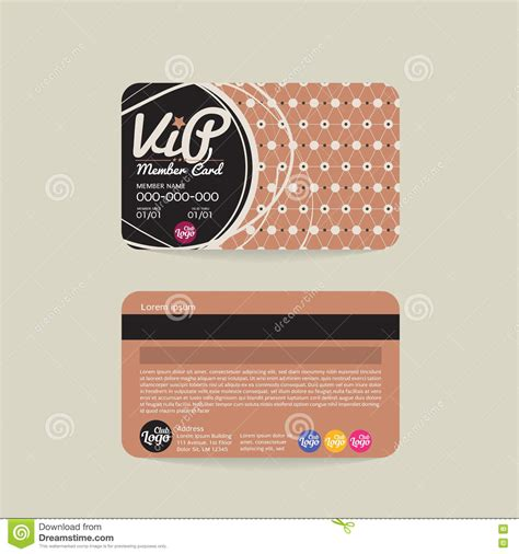 vip member card template vip business card free choice image card design