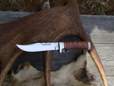 buck 119 wood customized buck 119 snake wood handle bowie knife file
