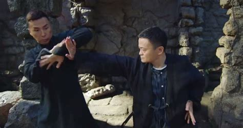 alibaba film billionaire jack ma fights donnie yen jet li and others