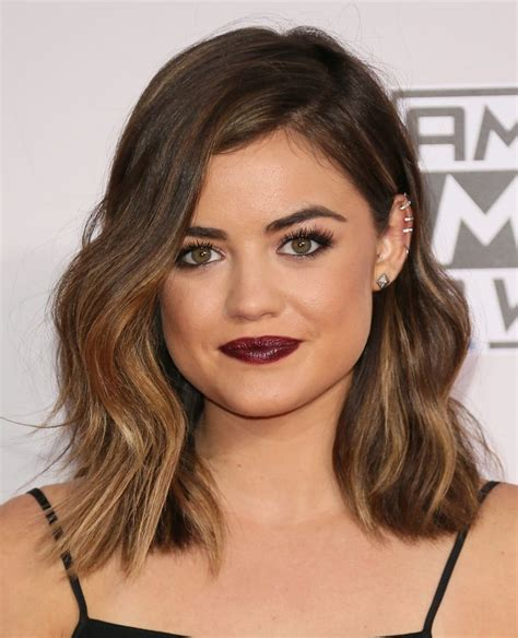 lob hairstyle over 40 lucy hale pinteres