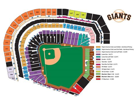 att park 3d seating chart san francisco giants seating map michigan map