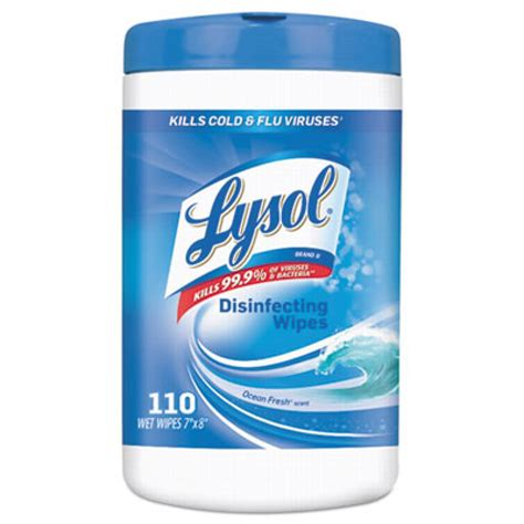 lysol ocean fresh scent disinfecting wipes     wipe canisters case