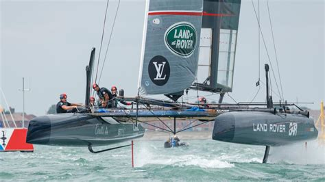 catamaran vs hydrofoil on board the land rover bar america s cup boat top gear