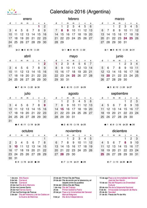 Calendario Argentina Calendario Argentina 2016 Nuestromar