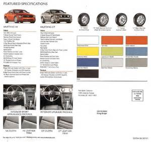 Ford Brochure 2005 Ford Mustang Brochure