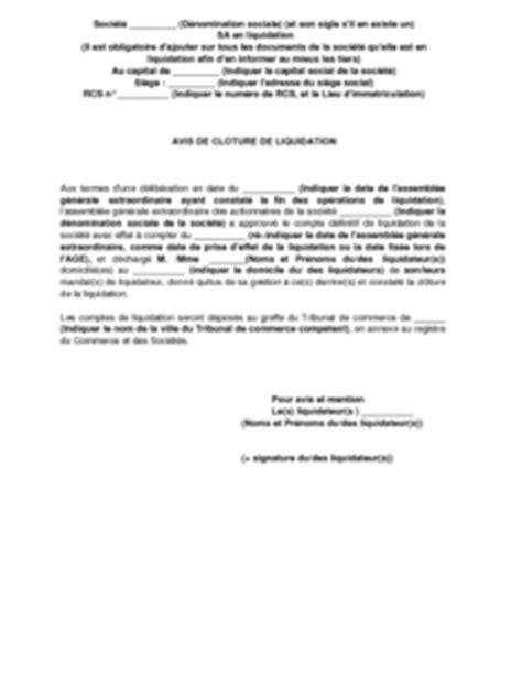 Modèle Lettre Demande De Quitus Exemple De Lettre Gratuit De Avis Cl 244 Ture Liquidation Une Publi 233 Dans Journal Annonces L 233 Gales