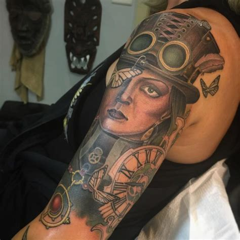 steam punk tattoos 100 fantastic steunk designs the steamy