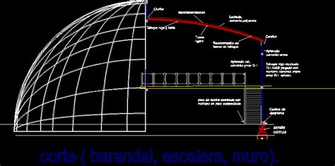 geodesic gallery dwg section  autocad designs cad