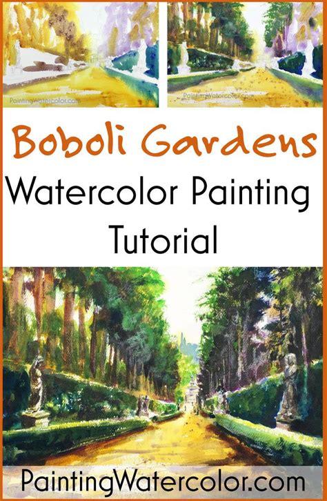 watercolor garden tutorial 69 best painting watercolor images on pinterest