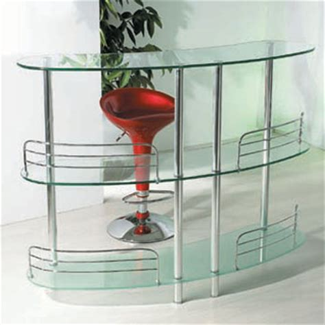 Glass Breakfast Bar Table Curving Glass Dining Table