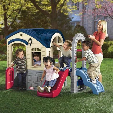 toddler playhouse with slide tikes slide review tikes playhouse