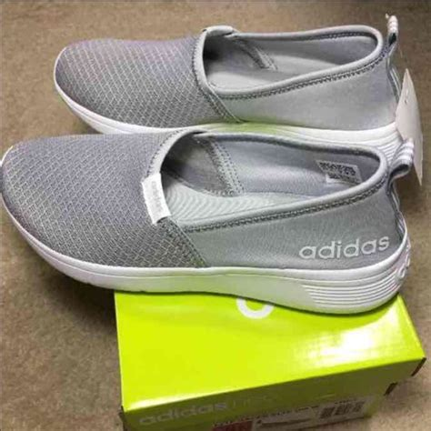 Adidas Neo Slip On Black By D adidas sold adidas neo lite grey slip on shoes sz 8 chic