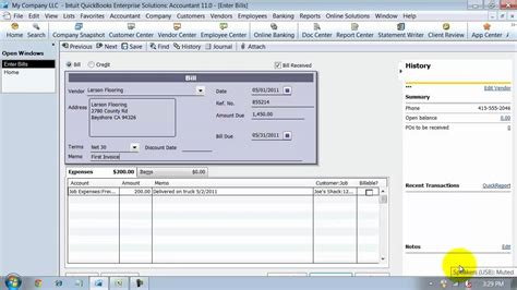 quickbooks tutorial on youtube quickbooks training enter bills item and expense youtube