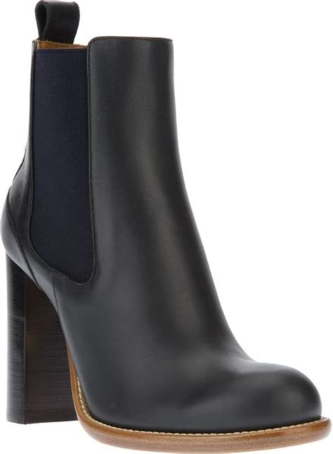 high heel chelsea boot chlo 233 high heel chelsea boot in blue lyst