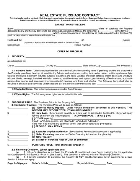 Free Real Estate Purchase Agreement Template 8 real estate purchase contract template timeline template