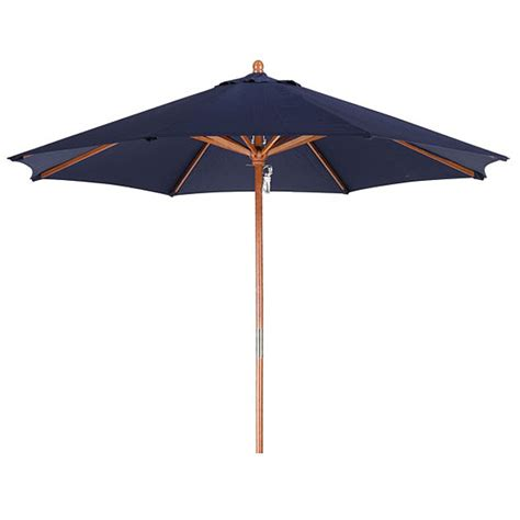 Lauren Company Premium 9 Foot Round Navy Blue Wood Patio Overstock Patio Umbrella