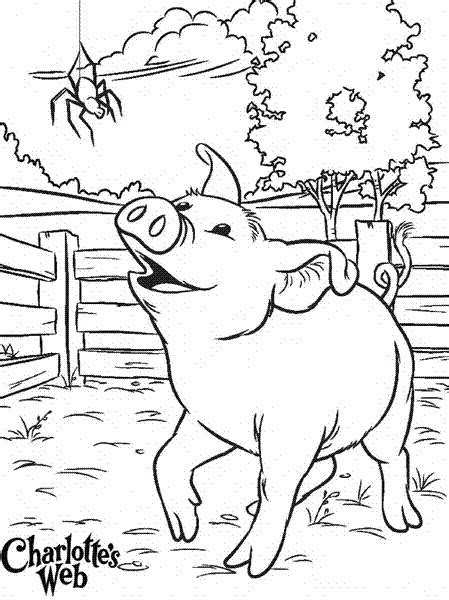 Charlottes Web Coloring Pages charlottes coloring pages