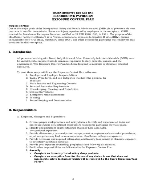 bloodborne pathogens policy template gallery free