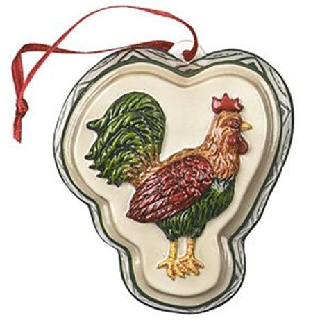 amazon com rooster cookie mold ceramic christmas