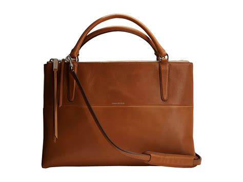 coach borough bag retro leather shipped free at zappos